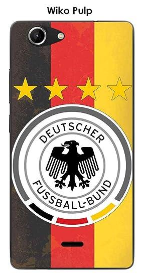 Onozo Carcasa Wiko Pulp Design Alemania fútbol fondo bandera ...