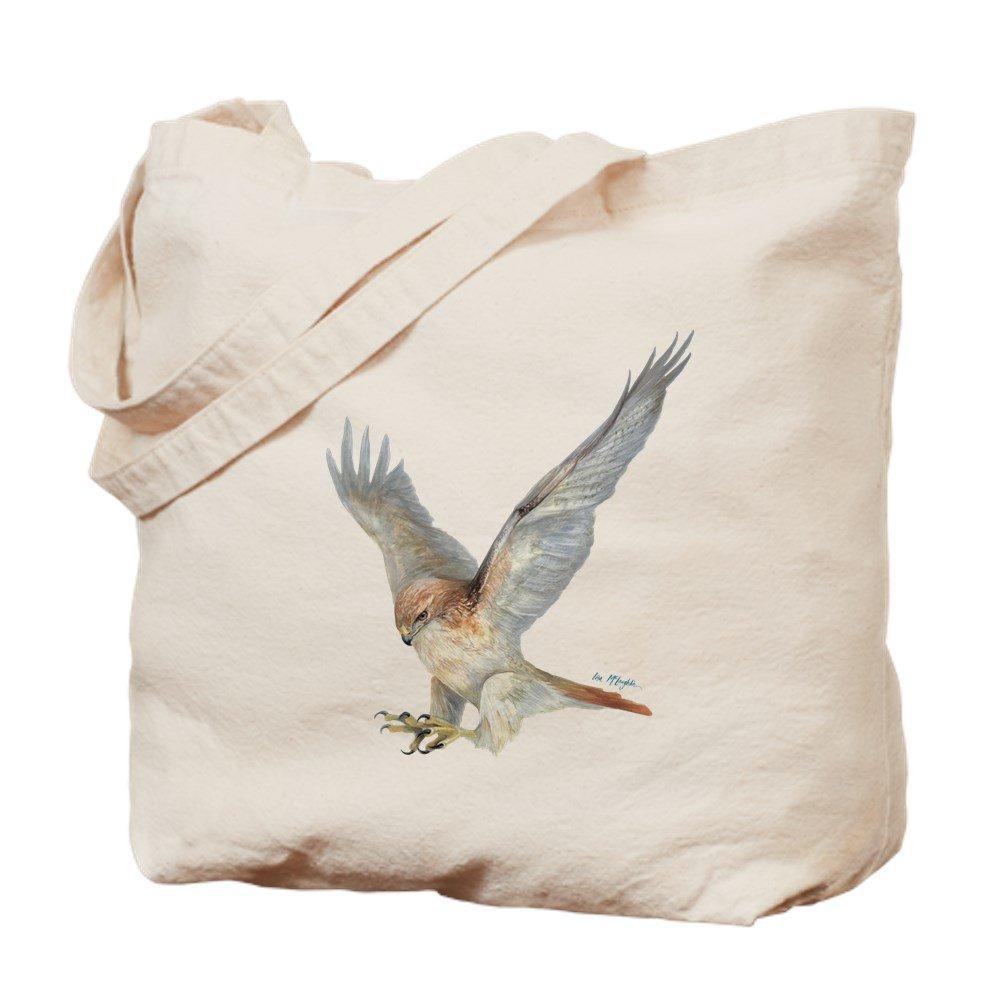 CafePress – Striking red-tail Hawk – ナチュラルキャンバストートバッグ、布ショッピングバッグ M ベージュ 07541706086893C B073QTSDCL MM