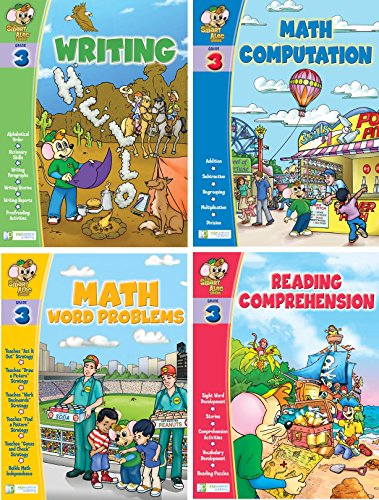 Edgeucational Publishing Smart ALEC (3rd Grade) Four Pack Learning Series, Includes: Writing, Math Readiness, Reading Readiness, Math Word Problems