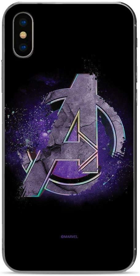 ERT Group Los Vengadores Avengers Carcasa Trasera Protectora Funda Antideslizante de Gel TPU para Xiaomi Redmi Note 8 - Negro
