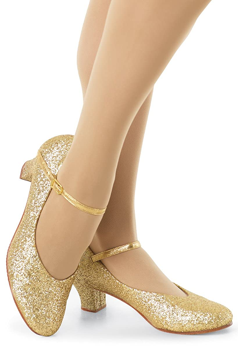 Balera Shoes Girls Character Shoes For Dance Womens Heels With Glitter And 1.5 Inch Heel