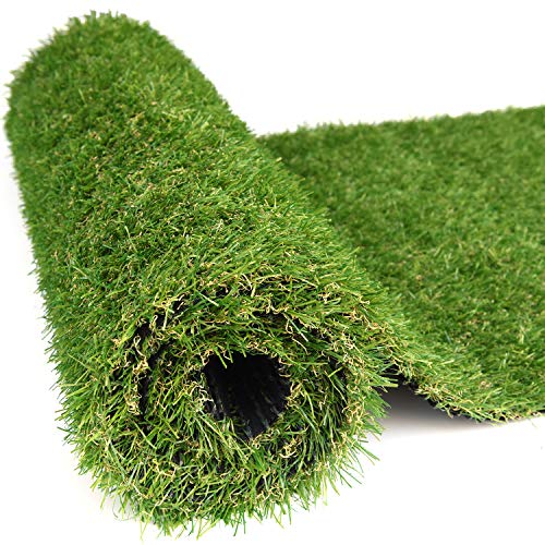 RoundLove Artificial Turf Lawn Fake Grass Indoor Outdoor Landscape Pet Dog Area (40X80 in) (Deck Kennel)