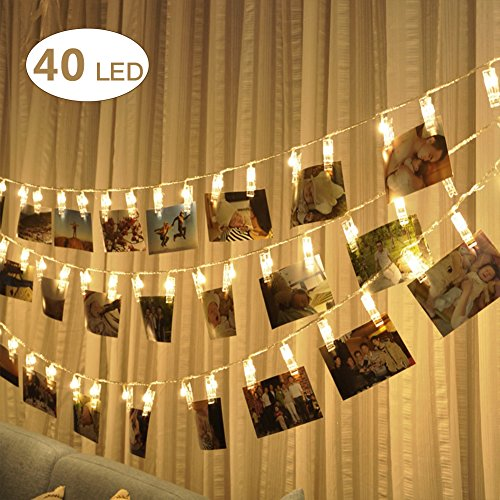 E-TECHING-20-ft-USB-Powered-LED-Photo-Clip-String-LightsWarm-White-40-Photo-Clip-for-IndoorOutdoor-Decorate-Perfect-for-Hanging-Pictures-Notes-Artwork