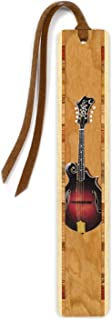 product image for Mitercraft Musical Instrument - Mandolin, Color Wooden Bookmark with Suede Tassel