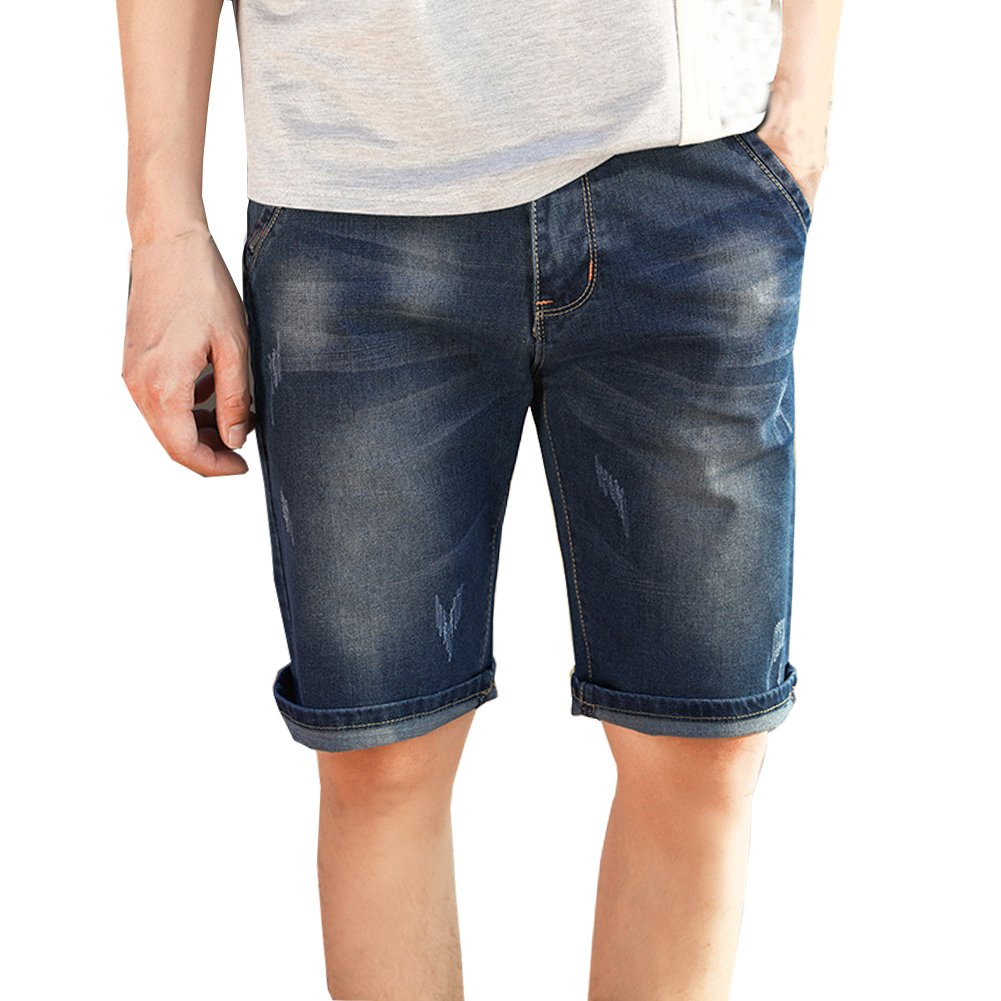 Shunht Mens Ripped Hole Denim Shorts Short Jeans