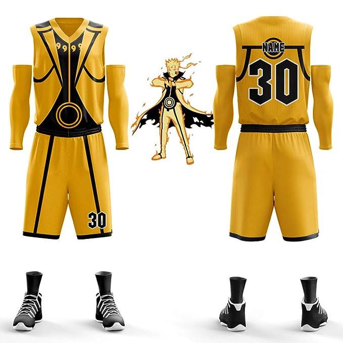 WWJIE Uniforme de Baloncesto Personalizado de Naruto, Bola ...