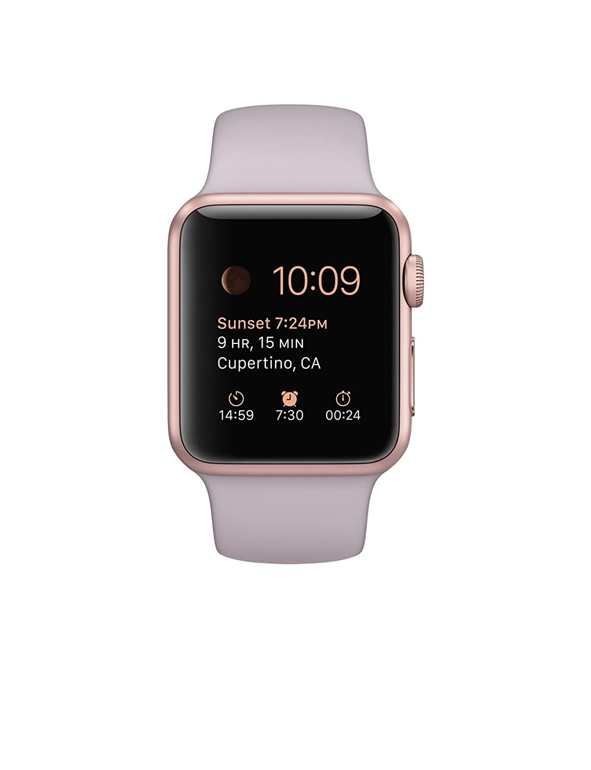 Apple 1.49-Inch Sport Smart Watch - Rose Gold Aluminum Case with Pink Band