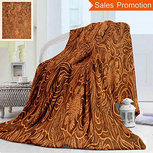 Opposo Unique Double Sides 3D Print Flannel Blanket Detail of Fancy Tooled Leather Cover Good for Backgrounds Menus Buttons Etc Cozy Plush Supersoft Blankets for Couch Bed, Throw Blanket 40