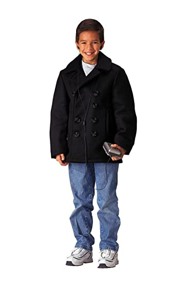 Amazon.com: Rothco Kids Wool Peacoat: Sports & Outdoors