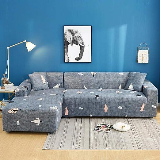 FENFANGAN Fundas De Sofas Chaise Longue 2 Pcs Corner Sofa ...