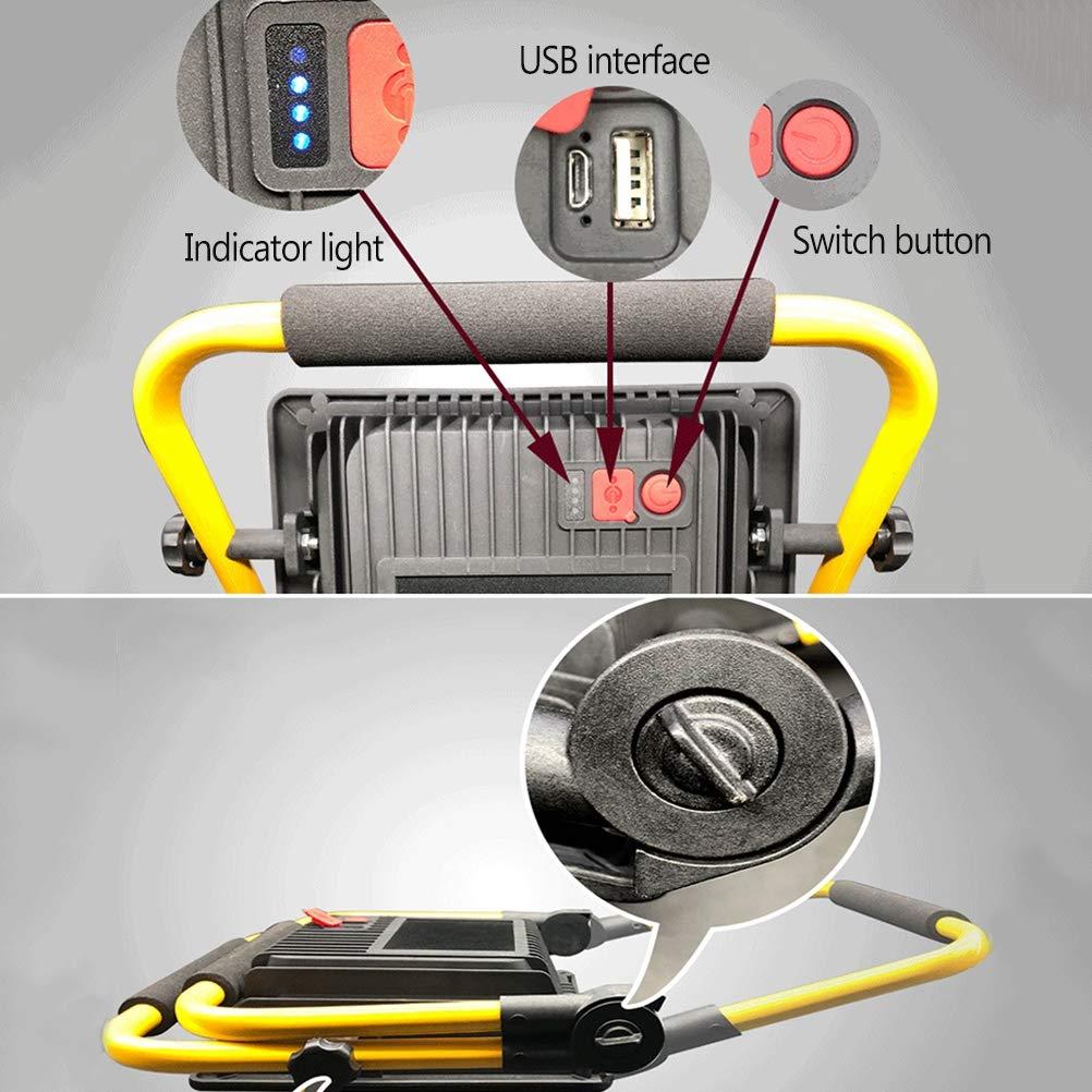 3 Modi Dimmbar Timing Tragbar Au/ßenstrahler mit USB-Anschluss IP66 Wasserdicht zusammenklappbar Arbeitsleuchte f/ür Garten Autoreparatur Angeln Camping,120W LED Flutlichtstrahler mit Fernbedienung