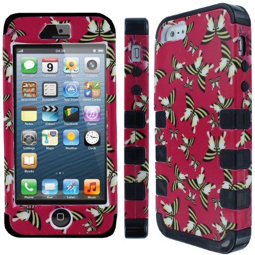 EMPIRE Fishbone Volle Deckung Schutz Case Tasche Hülle for Apple iPhone 5 - Butterflies