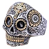 Gothic Cool 925 Sterling Silver Gold Mex