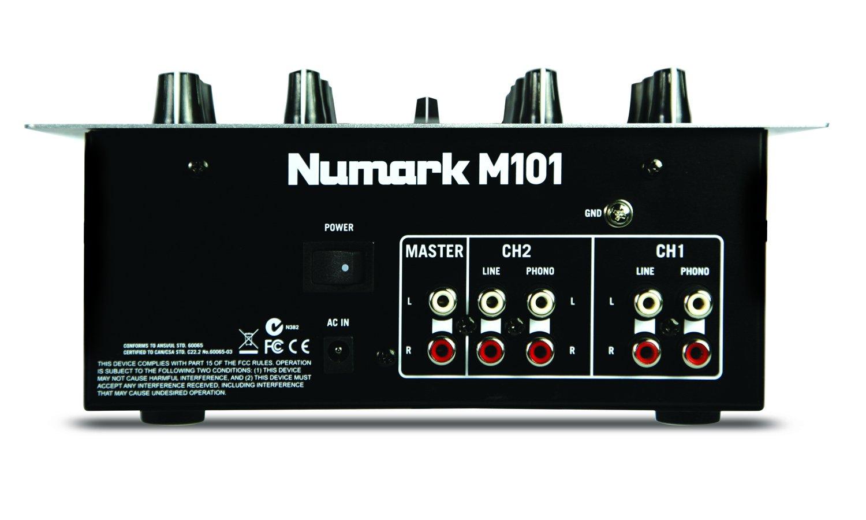 Numark M101 - Mezclador de DJ Polivalente de 2 Canales, Instalable en Rack, con Ecualización de 2 Bandas, Entradas Pensadas para Actuaciones de Club, ...