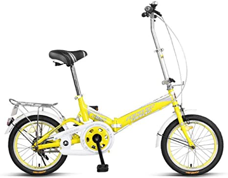 AOHMG Bicicleta Plegable Adulto, Peso Ligero Single velocidades ...
