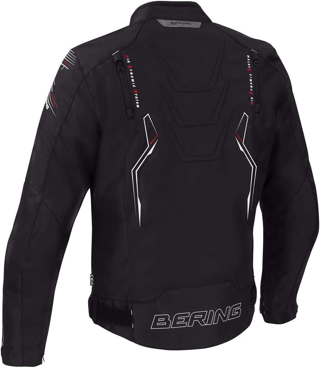 Bering Softshell/ /Chaqueta Moto Racing gris rojo blanco