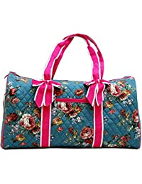 "Fashionable Super Lightweight ""Ori-Ori"" Quilted Floral Carry-On Duffel Bag in 3 Patterns--BEST GIFT"