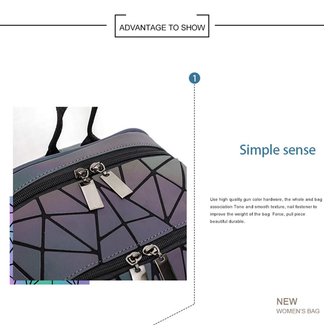 e12bb7dd79e1 Amazon.com: Geometric Holographic Rucksack Unique Iridescent ...