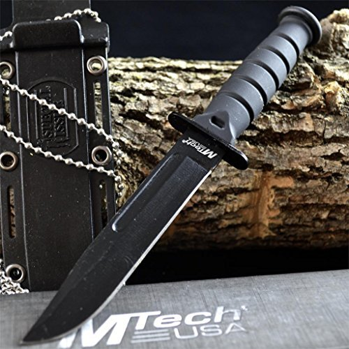 Cheap 6″ TACTICAL BOOT COMBAT NECK KNIFE Survival Hunting BOWIE Military Fixed Blade