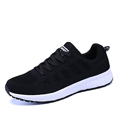 907928e6583 Womens Ladies Trainers Lace-up Fitness Sports Shoes Athletic Running  Sneakers Black Blue Grey White UK2.5-9.5 (35-44)
