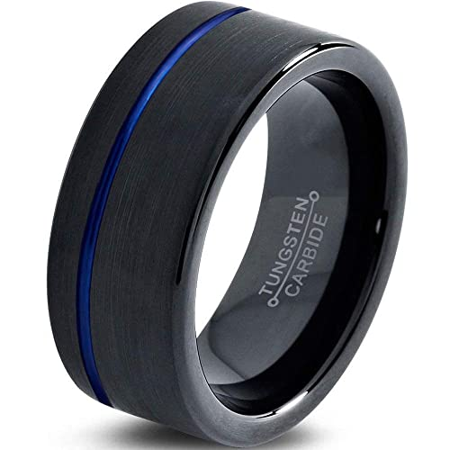 5e9b4d7d Amazon.com: Tungsten Wedding Band Ring 4mm 6mm 8mm 10mm 12mm for Men ...