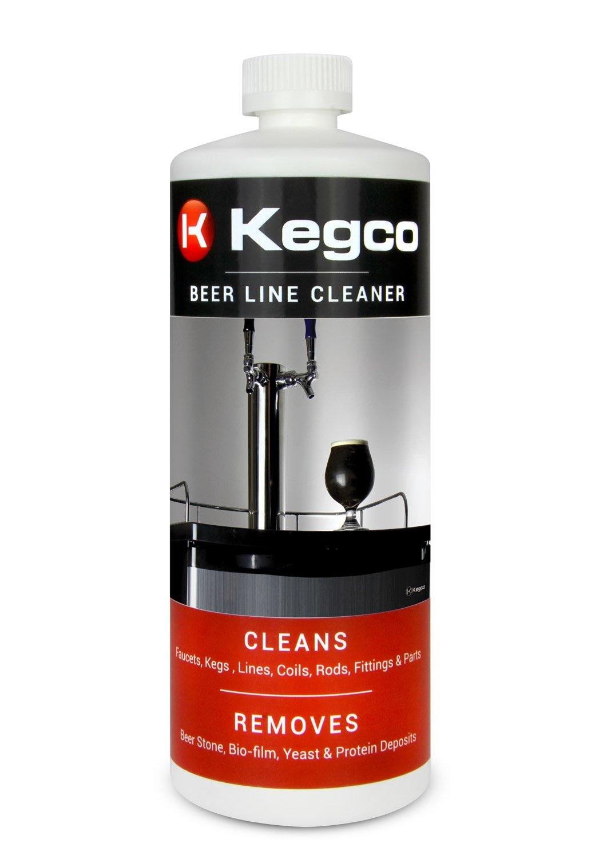 Kegco Beer Line Cleaner for Kegerators - 32 oz Bottles - Case of 12