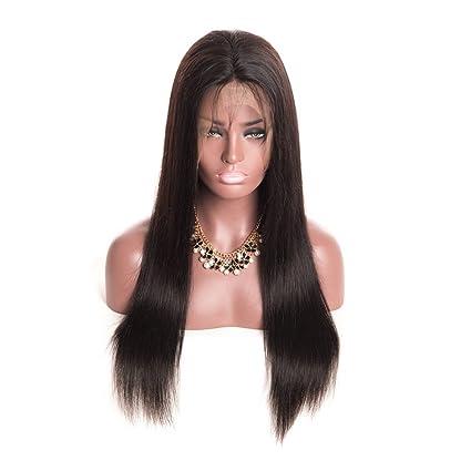 """Mila 12""""-26"""" Pelucas de malla frontal Y Negro pelo 100% natural"""