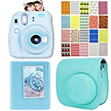 Elvam 4 in 1 Camera Accessory Bundles Set for Fujifilm Instax Mini 8 (Mini 8 Case Bag / Album/ Film Stickers / Selfie Portrait Mirror Lens) - Mint Green