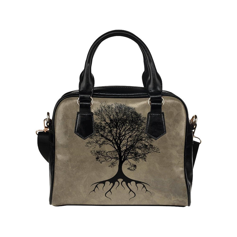 meincare Women's Vintage Tree PU leather Aslant Shoulder Tote Handbags