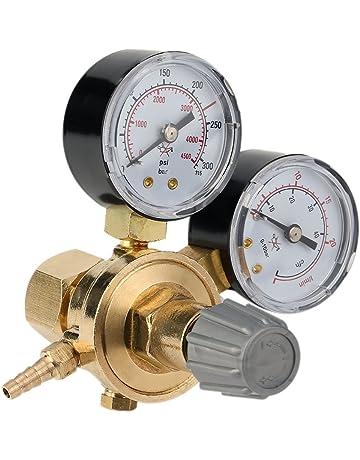Nuevo regulador de botella de gas argón Mig Tig Soldadura Regulador de CO2 0-315