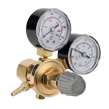 Mini reductor de presión Regulador de presión de Argon CO2 - Gas sudor Gas Manómetro Mig Mag: Amazon.es: Jardín
