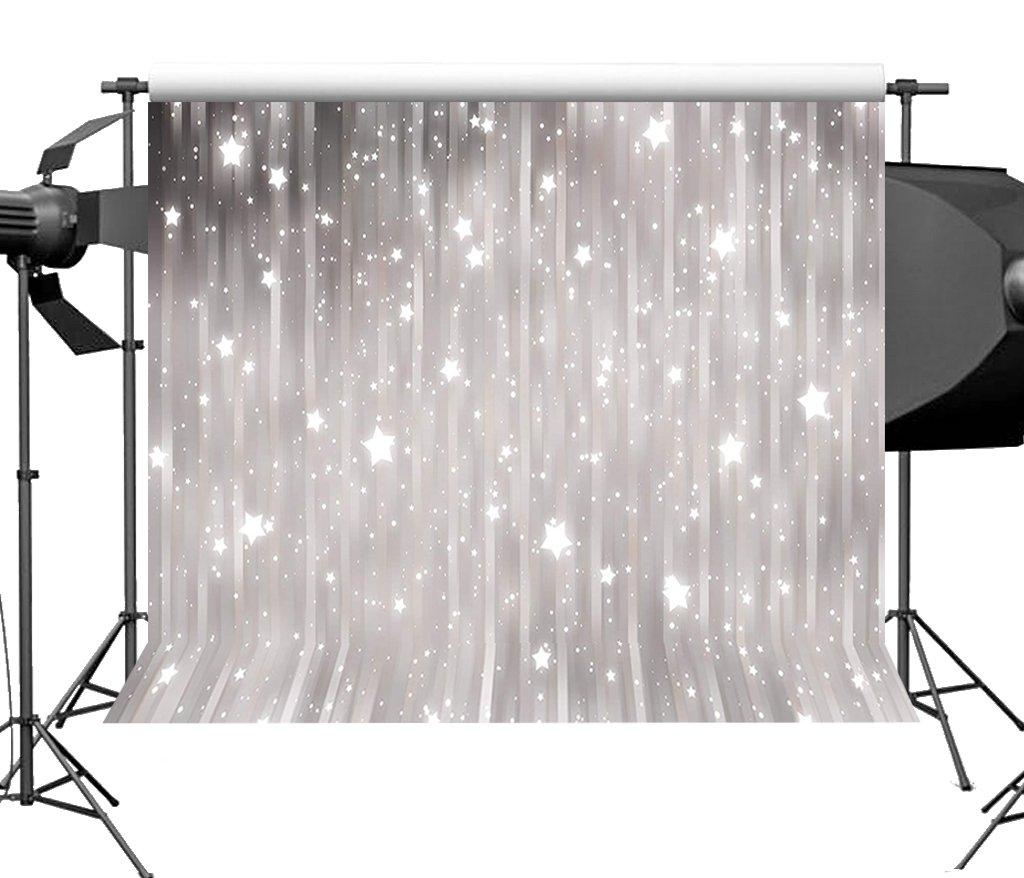 sensfun 7 x 5ft Shiny Stars Bokeh Glitter写真バックドロップビニールストライプウェディング新生児パーティー写真背景スタジオ小道具 7x5ft Z1 B07F31RC1R