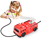 Kaerdun Inductive Train Toy Magic Mini Car Follow Drawn Black Line for Kids (FireTruck)