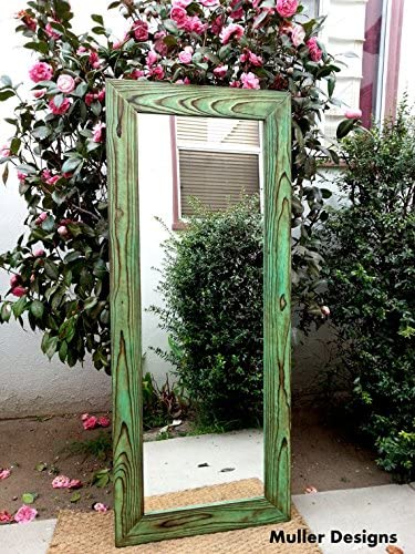 Wood Mirror full lenght mirror Green mirror