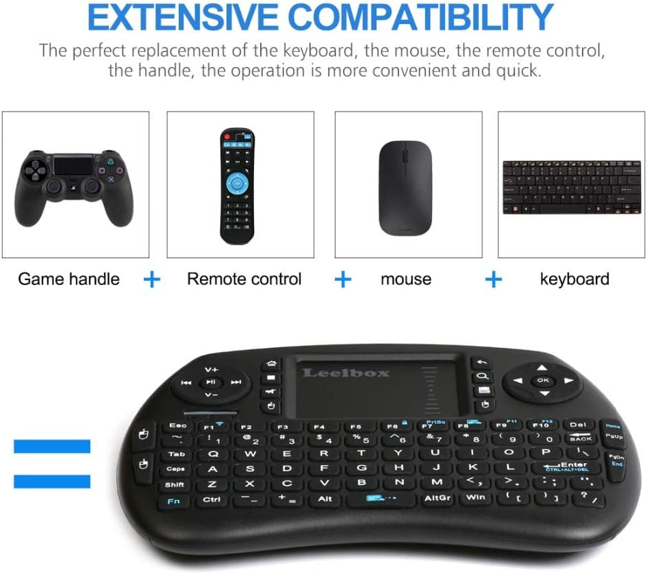 Color: Backlit Spanish Calvas OPEN-SMART English 2.4GHz Wireless i8 Keyboard Touchpad Fly Air Mouse For Android TV Box Gaming Mini PC