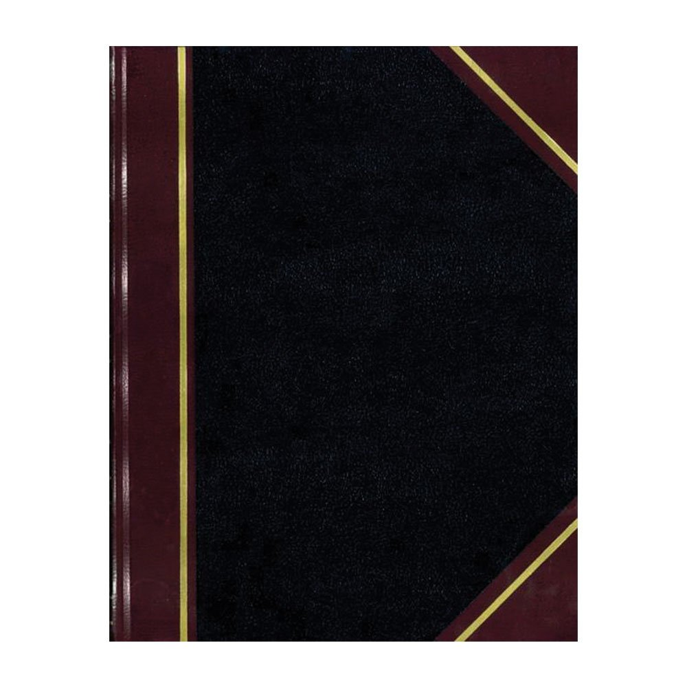 National Brand Texhide Notebook, Black and Burgundy Cover, 9.25 x 6 inches, 150 Pages (A45150)