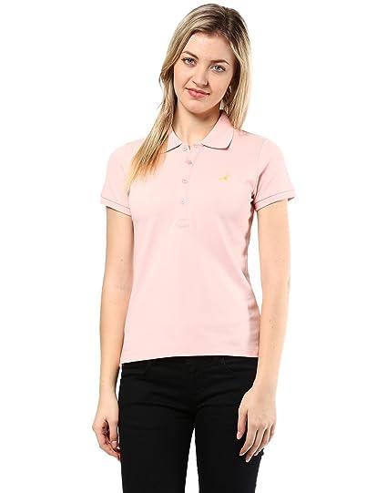 9409c4617e28e American Crew Women s Polo Collar T-Shirt (ACW705-XL Light Pink ...