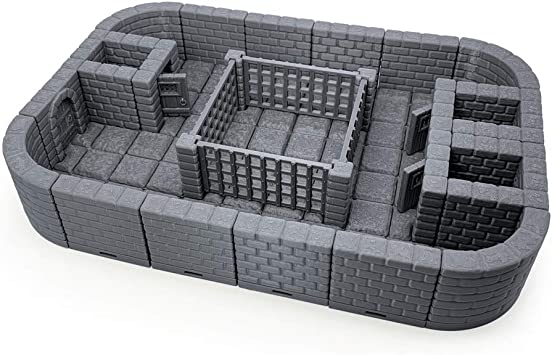 Lock Dungeon Tiles – Hoyo de prisión, pintable 3D Impreso Juego de ...