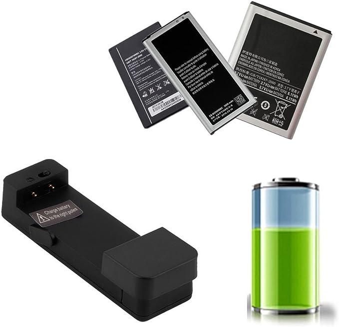 Cargador de batería externo universal negro del teléfono móvil ...