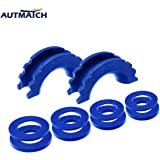 AUTMATCH Pack of 2 D-Ring Shackle Isolators Washers Kit 2 Rubber Shackle Isolators and 8 Washers Fits 3/4 Inch Shackle Gear Design Rattling Protection Shackle Cover Blue