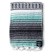 Mexican Blanket Authentic Falsa Blankets: Thick Soft Woven Acrylic for Yoga or as Beach Throw, Picnic, Camping, Travel, Hiking, Adventure (Coral)
