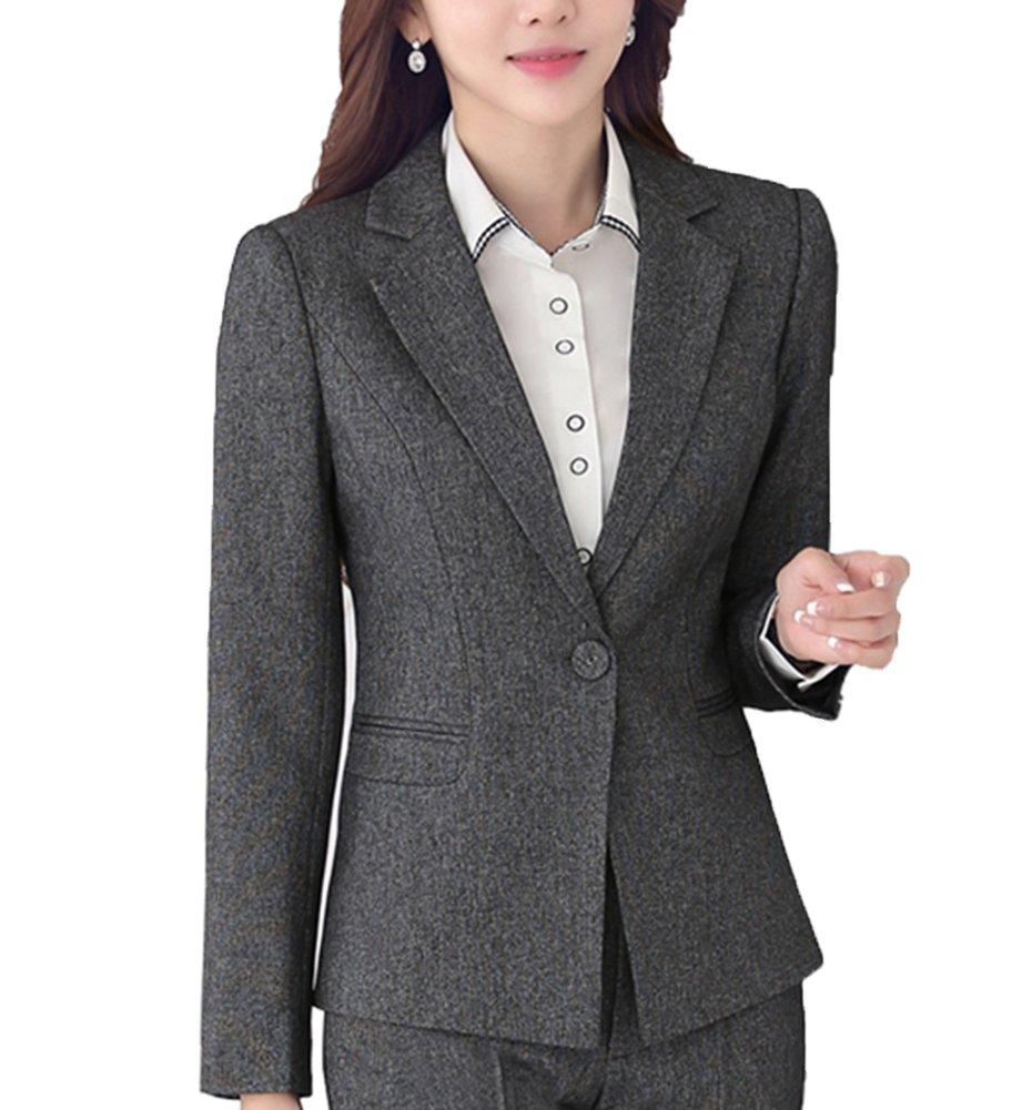 SK Studio Damen Business Hosenanzuge Slim Fit Blazer Reverskragen Karriere Hosen Anzug Set SK-O-8262