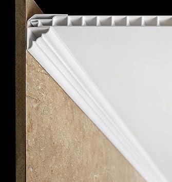Extremement Dalle de plafond corniche Trims- en PVC Blanc: Amazon.fr: Bricolage ZM-94