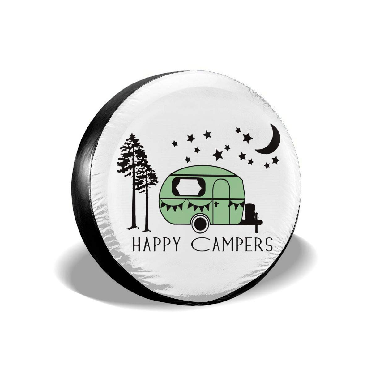 53291 Camco Life is Better at Campsite 29 Vinyl Cover with Elastic Hem-Durable Design Keeps Dirt Rain and Sun Away from Your Spare Tire