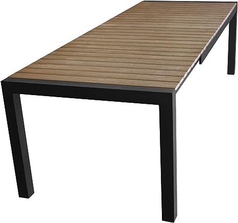 Alluminio Tavolo Da Giardino Allungabile 205 275 X 100 Cm Con Polywood Con Piastra Tavolo Mobili Da Giardino Nero Marrone Amazon It Giardino E Giardinaggio