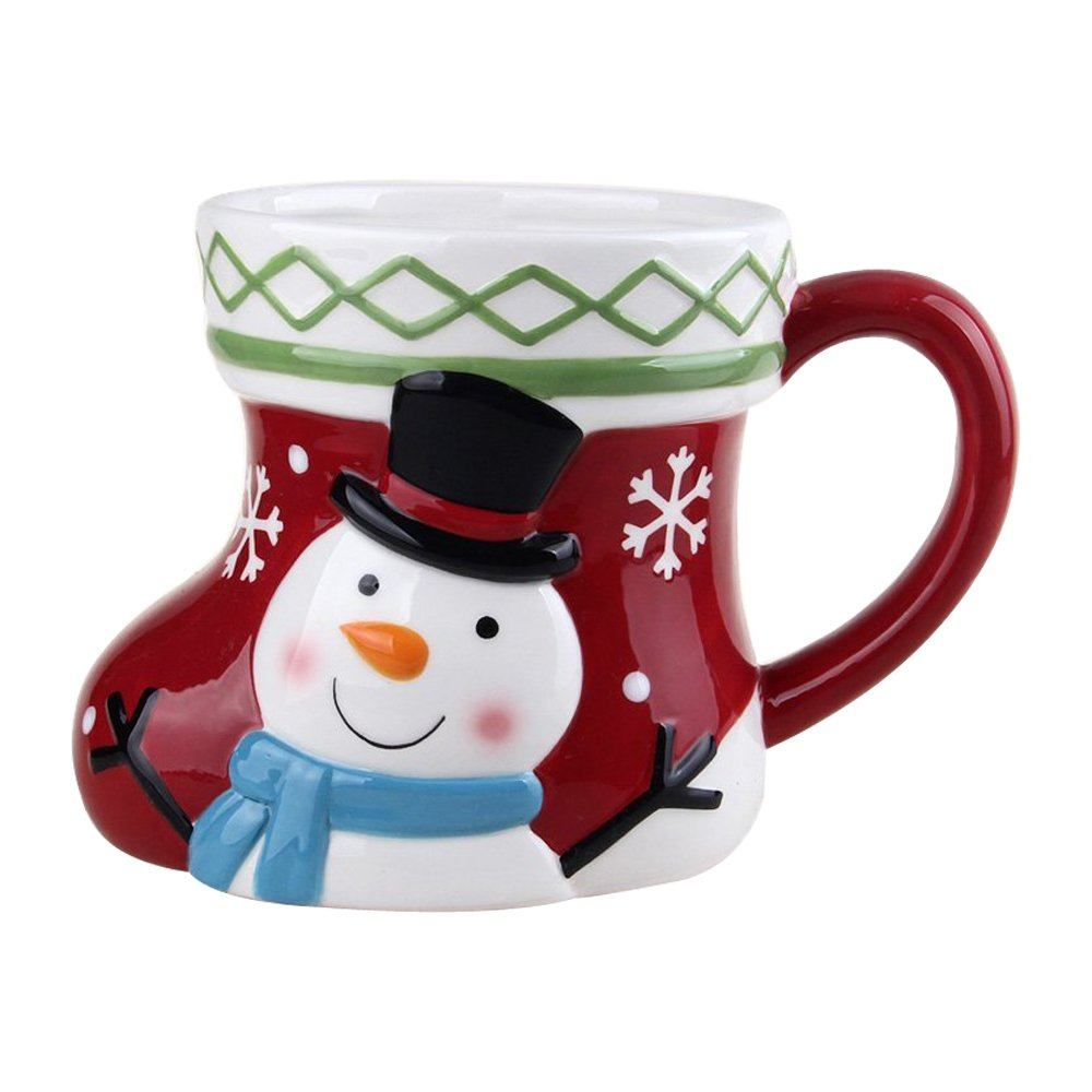 Comfy Hour 5 Winter Holiday Christmas Snowman Mug  Cup for One
