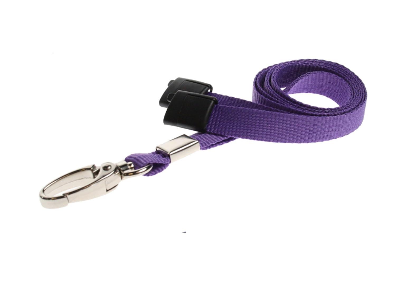 Orange Metal Clip ID Card It 10 ID Card Pass Badge Holder Neck Strap Safety Breakaway Lanyard