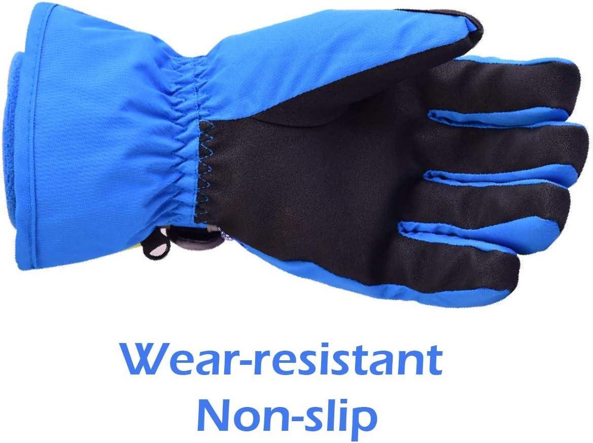 TRIWONDER Guantes de Invierno Impermeables Anti-Viento T/érmicos para Esqu/í Snowboard Ciclismo Hombres Mujeres Ni/ños