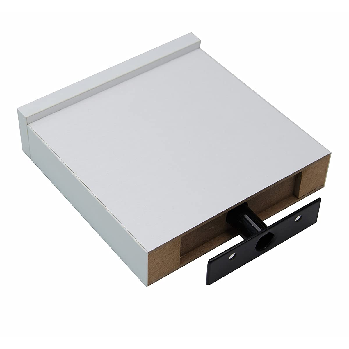 Coismo Set of 3 Multi length Floating Shelves, White