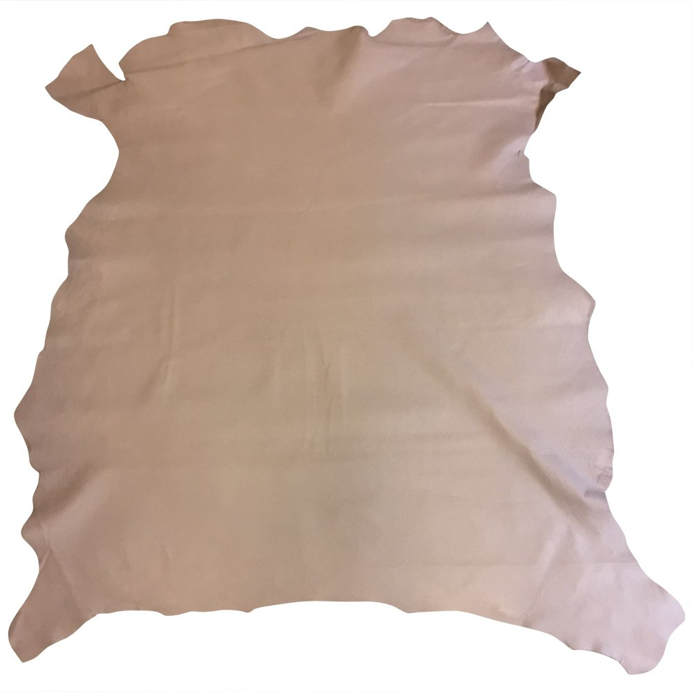 avg Thickness Spanish Full Skin 2 oz Upholstery Material Taupe Color 8 sq ft DIY Project Supply Genuine Leather Hides Quality Craft Fabric Natural Lambskin Leather Treasure Shop